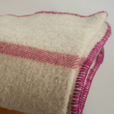 Rugosa on Oatmeal with Rose whipstitch